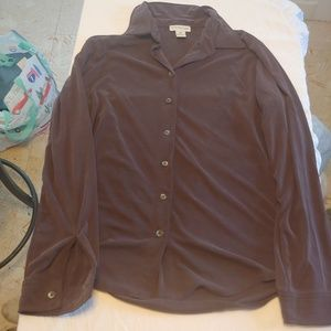 Ann Taylor Thinly Ribbed Button Down